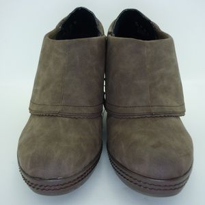 Dr. Scholl's NWB Brown Suede Wedge Booties 11M
